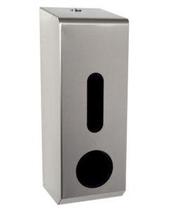 3-Toilet Roll Dispenser, Stainless Steel