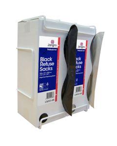 "Black Refuse Sacks Single Sack Dispensing System 16"" x 29"" x 39"" (Medium duty)"