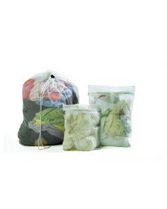 Mesh bag, 46x64cm, White with zip closure