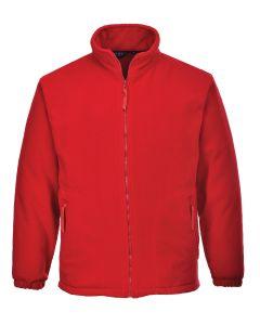Aran Fleece Jacket, Red S