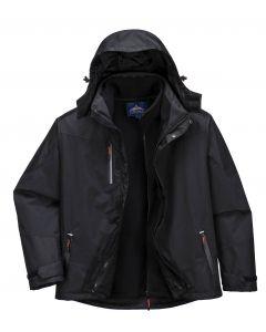 3 in 1 Radial Jacket Black Size 2XL