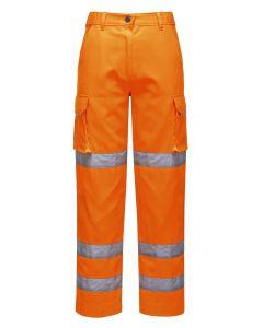 Ladies Hi Vis Trouser Orange Size L