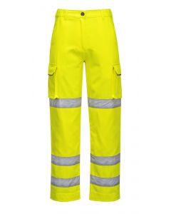 Ladies Hi Vis Trouser Yellow Size L