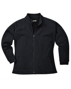 Aran Ladies Fleece Black Size L