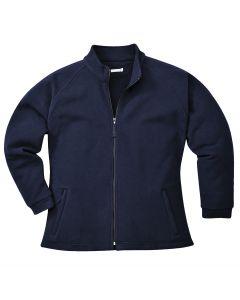 Aran Ladies Fleece Navy Size L