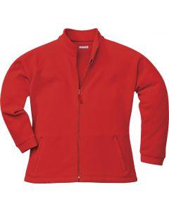 Aran Ladies Fleece Red Size L