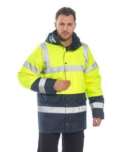 Hi-Vis Coat, Yellow/Navy Size M