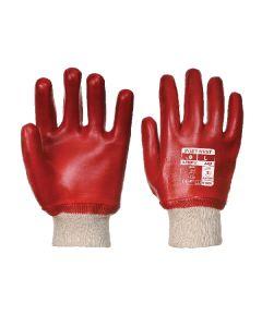 PVC Knitwrist Red Size 11/XXL