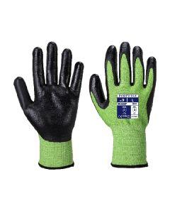 Nitrile Foam Glove Cut 5 Green Size 8/M