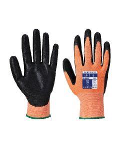 Nitrile Foam Gloves Cut 3 Amber Size 9/L