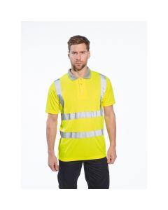 Hi-Vis Short Sleeve Polo Shirt, Yellow 3XL