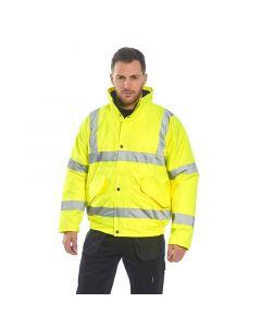 Hi-Vis Bomber Jacket, Yellow 3XL