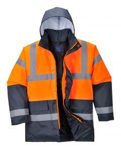 Hi-Vis Coat, Orange/Navy Size M