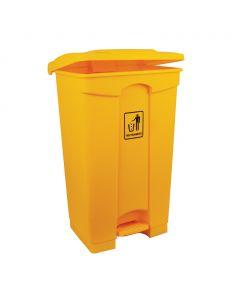 Bin 87 Litre Yellow