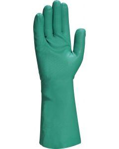 Nitrile Gauntlet 33cm, Green Size 9