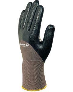 Polyamide Glove with Nitrile Coating, Black Size 8