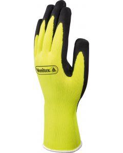 Latex Coated Glove, Yellow/Black, Size 9