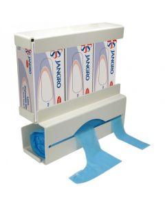 Duo Glove & Apron Dispenser, White Plastic