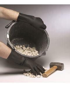 Heavy weight Black Rubber Gloves, Medium